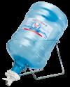 Подставка под бутыль наклонная с пробкой-краником