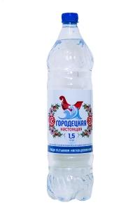 """Питьевая вода """"Городецкая настоящая"""" 1,5 литра негазированная"""