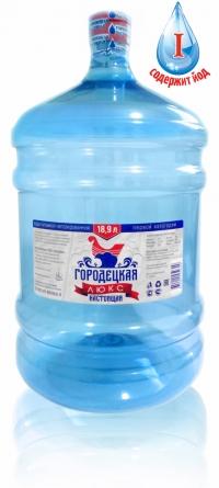 """Питьевая вода """"Городецкая настоящая"""" 19 литров ЛЮКС"""